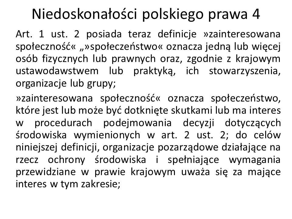 Niedoskonałości polskiego prawa 4