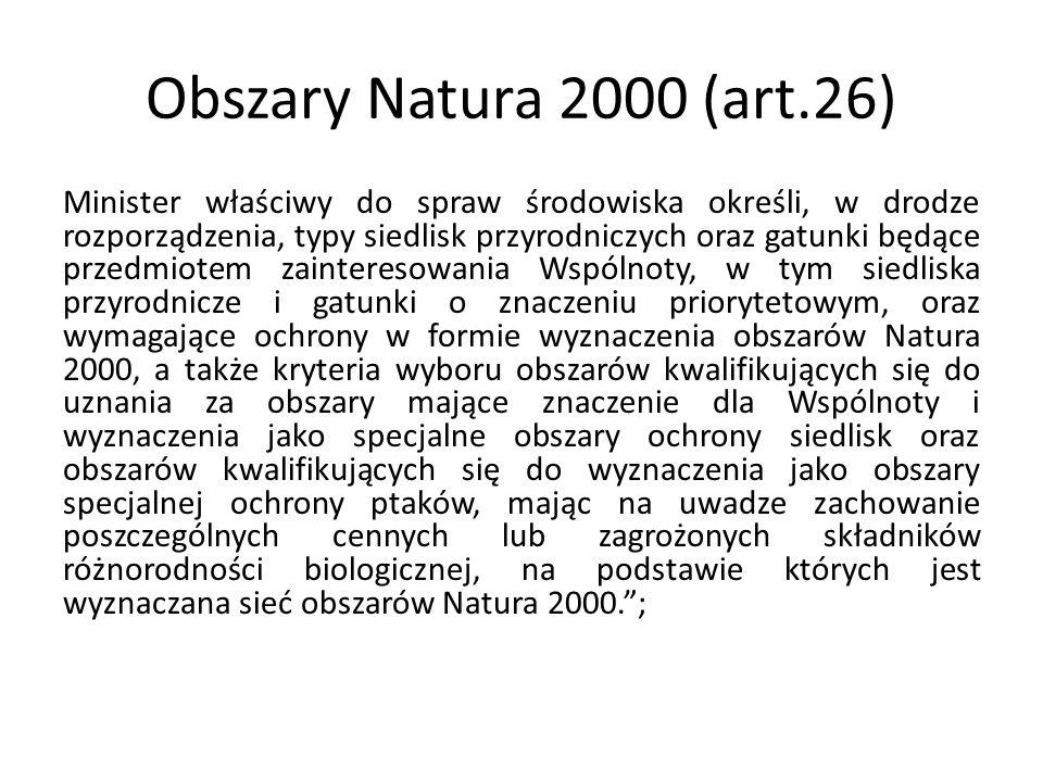 Obszary Natura 2000 (art.26)