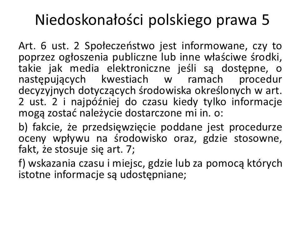 Niedoskonałości polskiego prawa 5