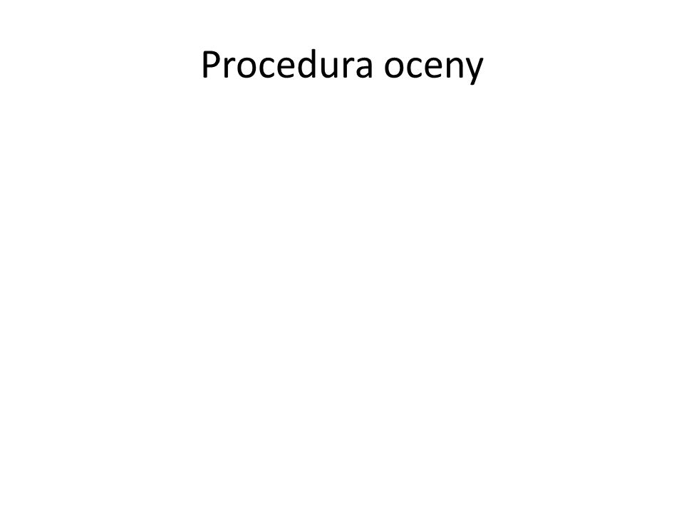 Procedura oceny