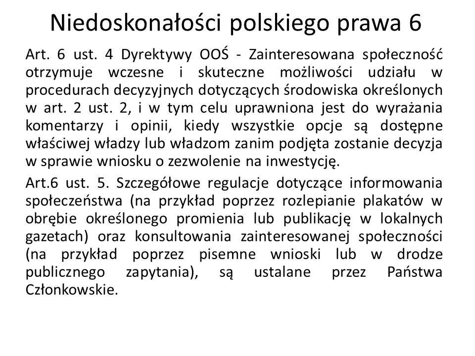 Niedoskonałości polskiego prawa 6