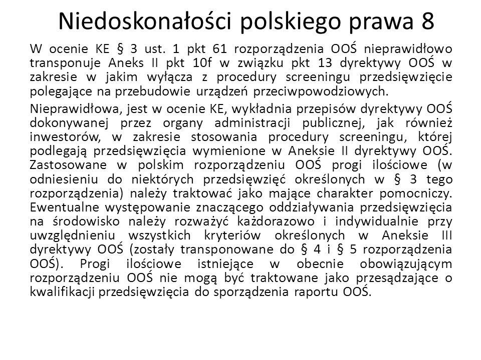 Niedoskonałości polskiego prawa 8