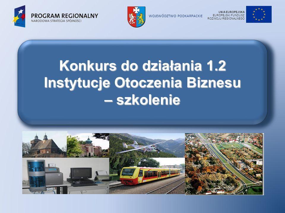 Konkurs do działania 1.2 Instytucje Otoczenia Biznesu