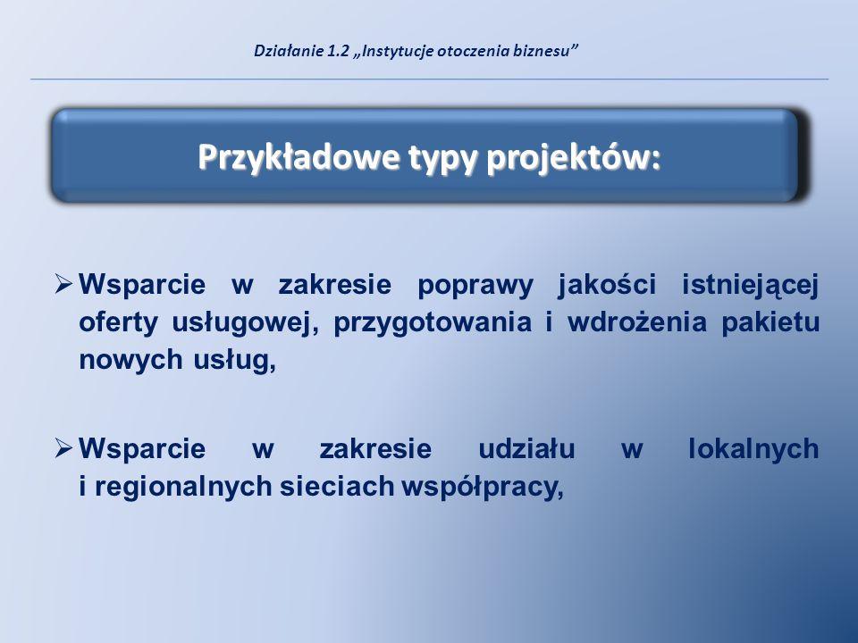 Przykładowe typy projektów: