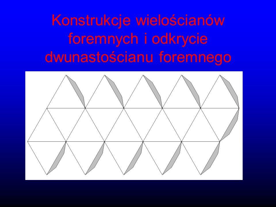 Konstrukcje wielościanów foremnych i odkrycie dwunastościanu foremnego