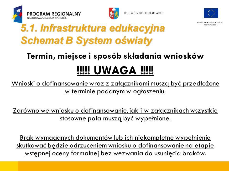 5.1. Infrastruktura edukacyjna Schemat B System oświaty