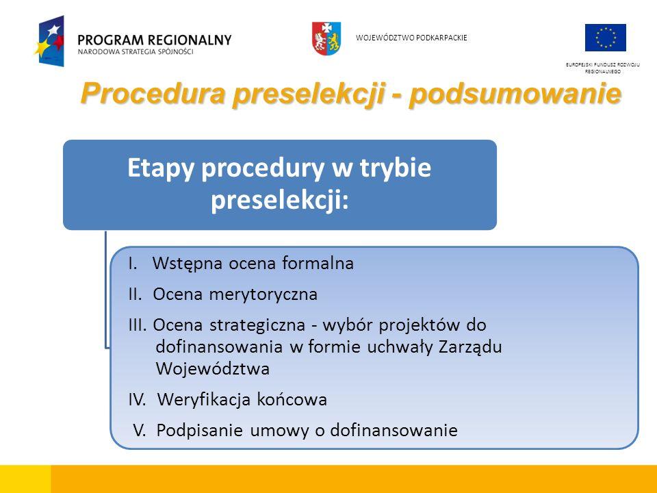 Procedura preselekcji - podsumowanie