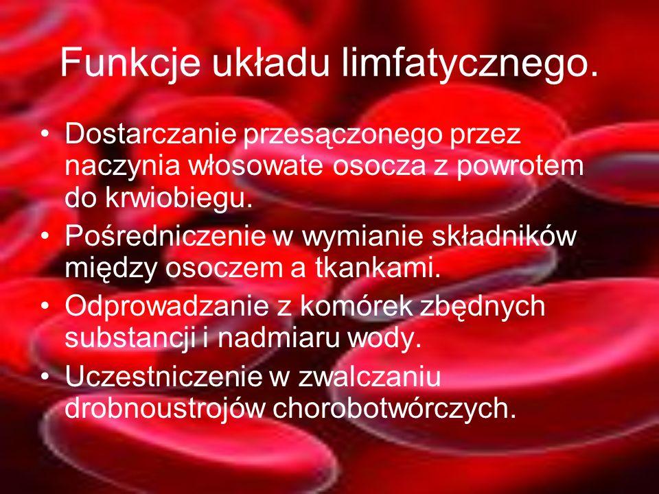 Funkcje układu limfatycznego.