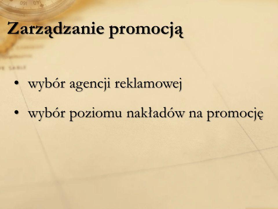 Zarządzanie promocją wybór agencji reklamowej