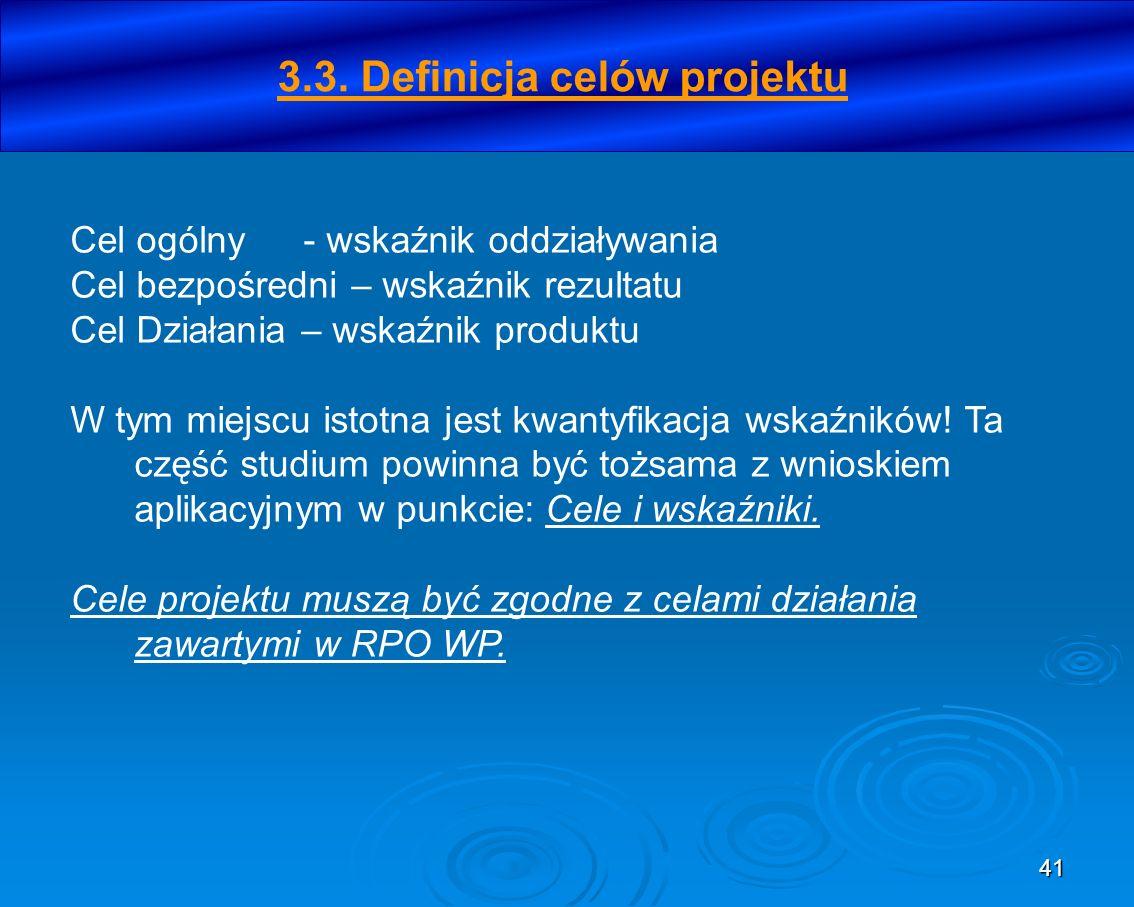 3.3. Definicja celów projektu