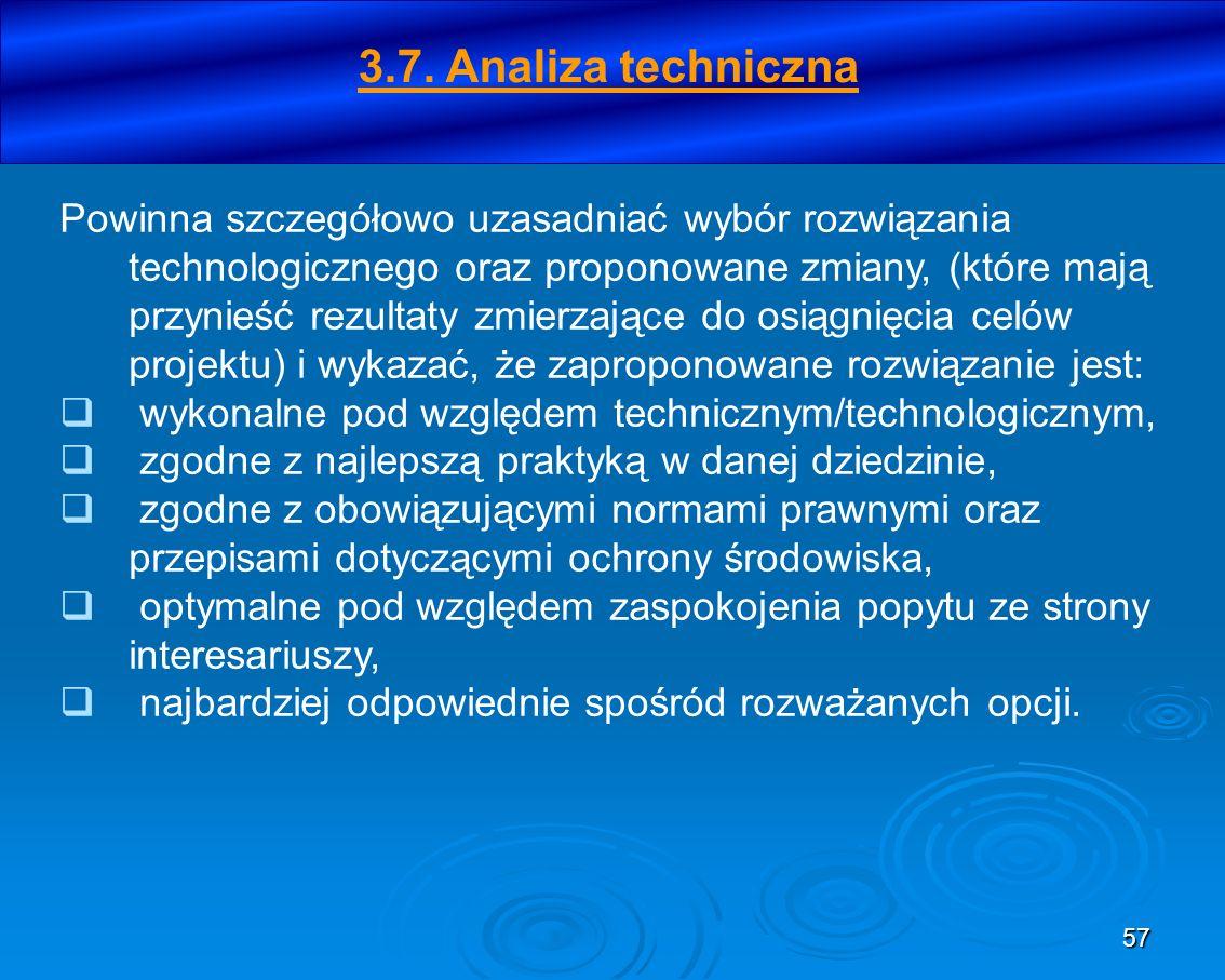 3.7. Analiza techniczna