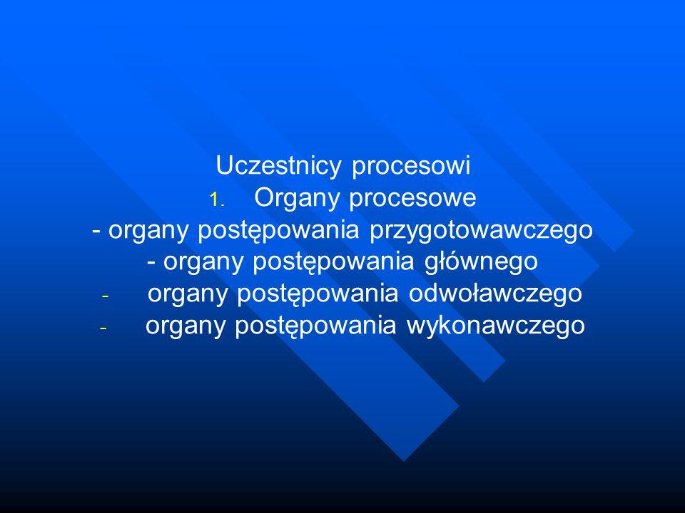 - organy postępowania przygotowawczego - organy postępowania głównego