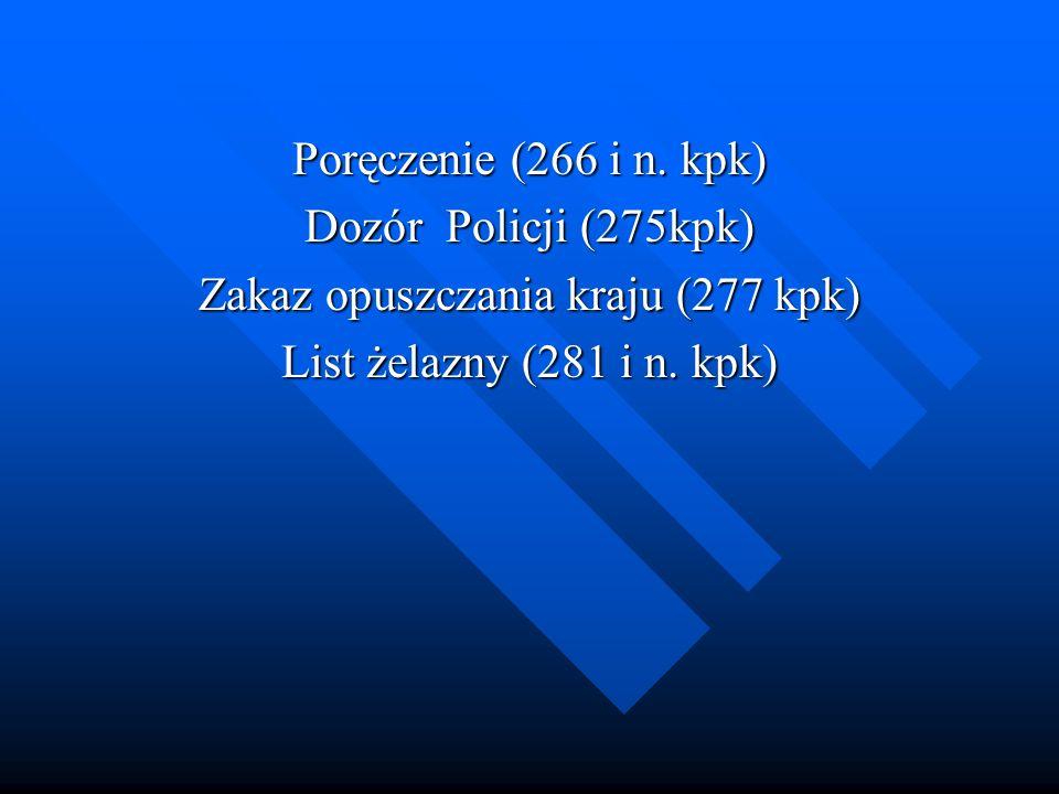 Zakaz opuszczania kraju (277 kpk)