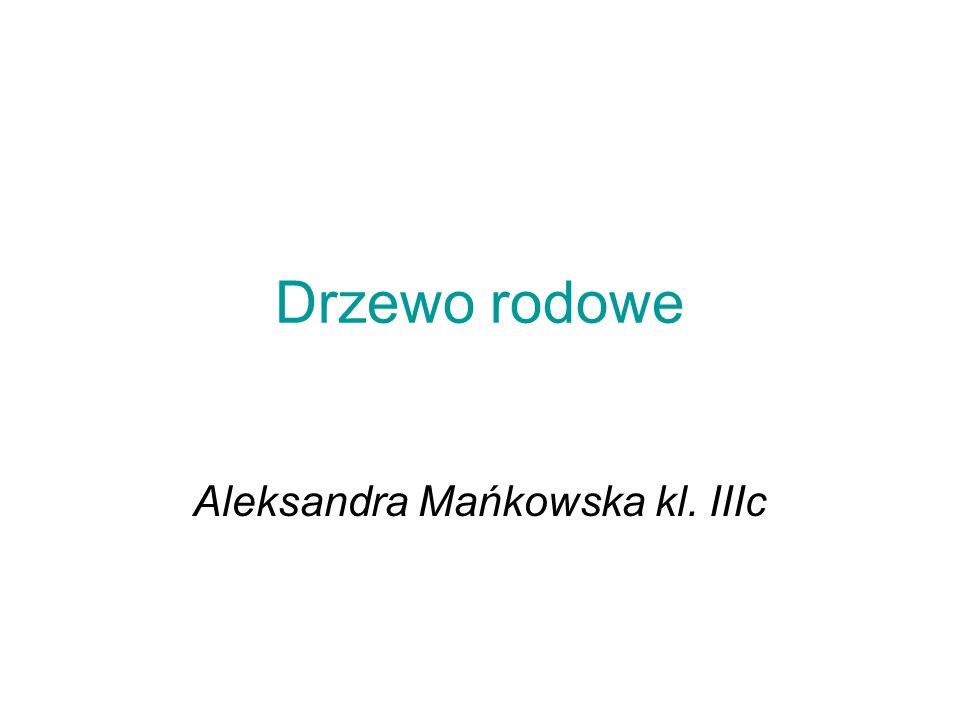 Aleksandra Mańkowska kl. IIIc