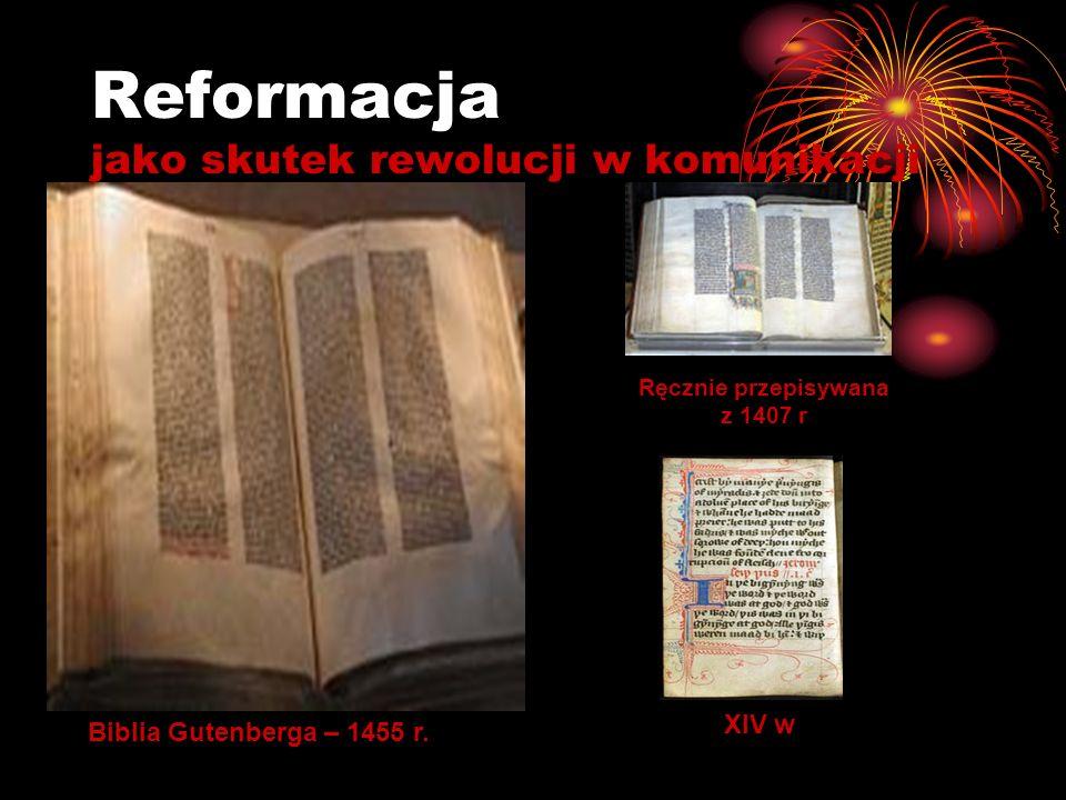 Reformacja jako skutek rewolucji w komunikacji