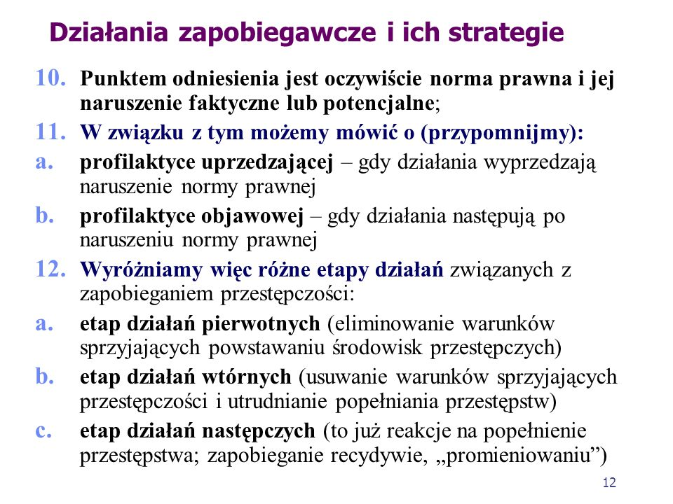Działania zapobiegawcze i ich strategie