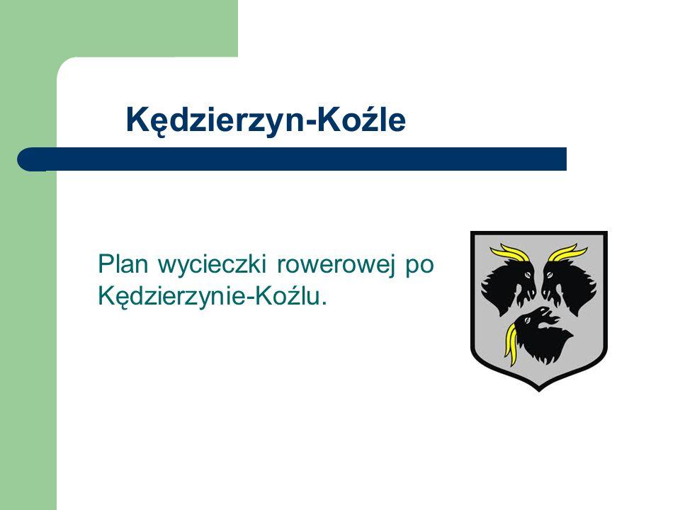 Plan wycieczki rowerowej po Kędzierzynie-Koźlu.