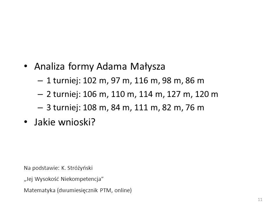 Analiza formy Adama Małysza
