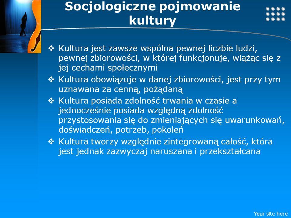 Socjologiczne pojmowanie kultury
