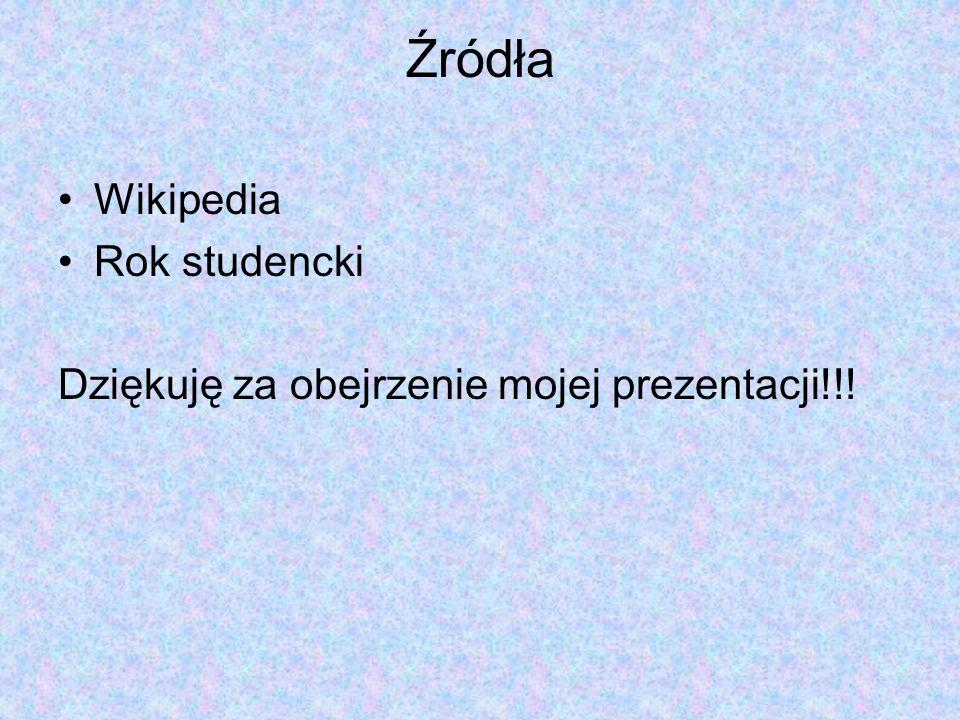 Źródła Wikipedia Rok studencki