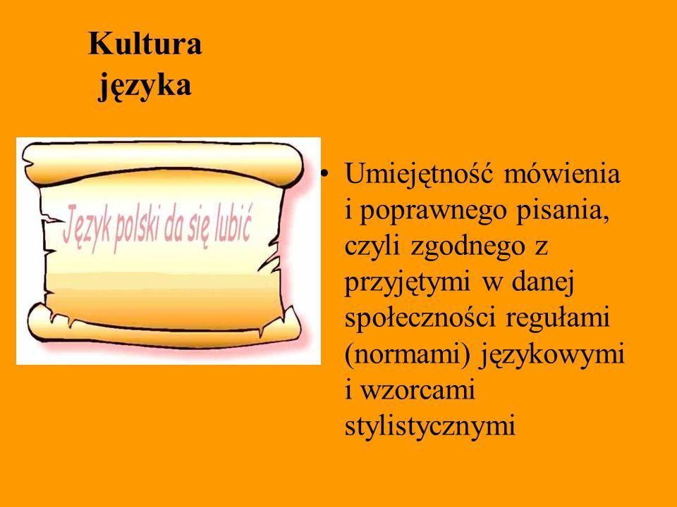 Kultura języka