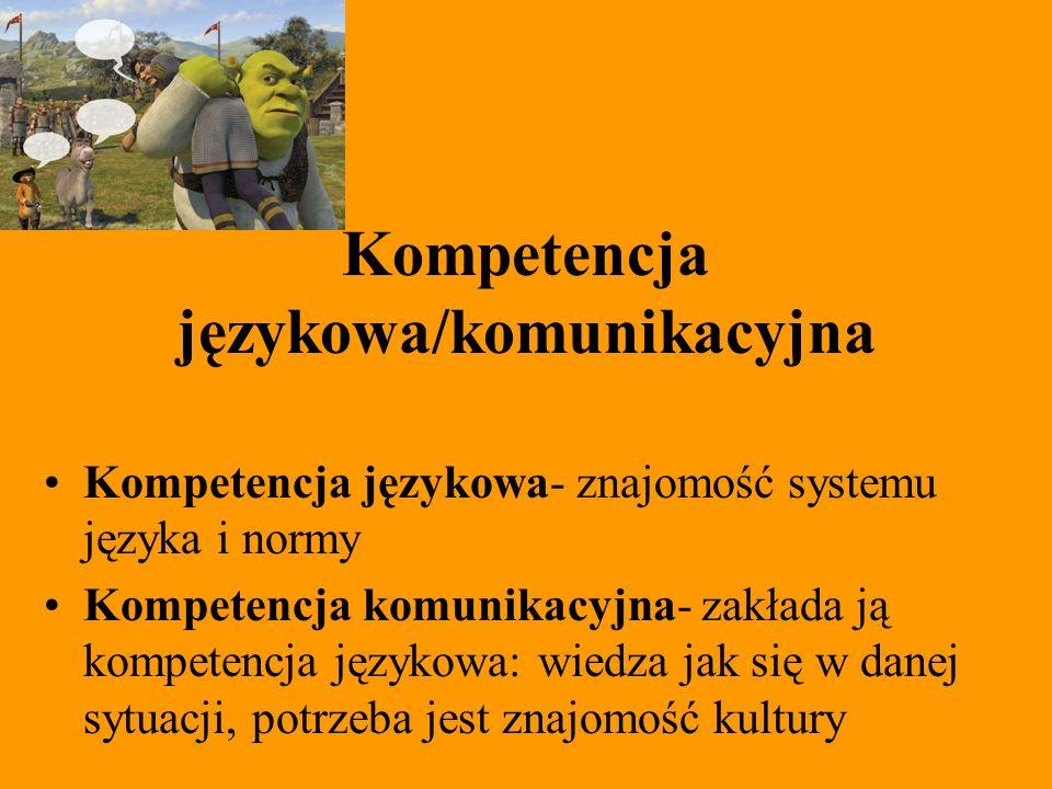 Kompetencja językowa/komunikacyjna