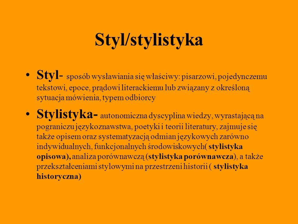 Styl/stylistyka