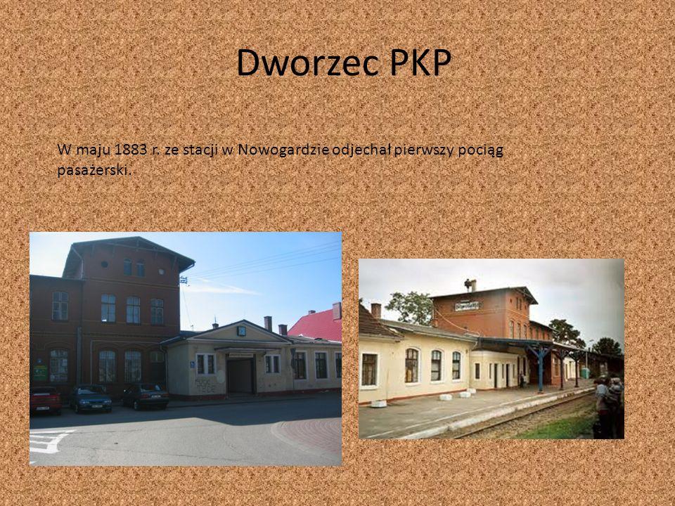 Dworzec PKP W maju 1883 r. ze stacji w Nowogardzie odjechał pierwszy pociąg pasażerski.