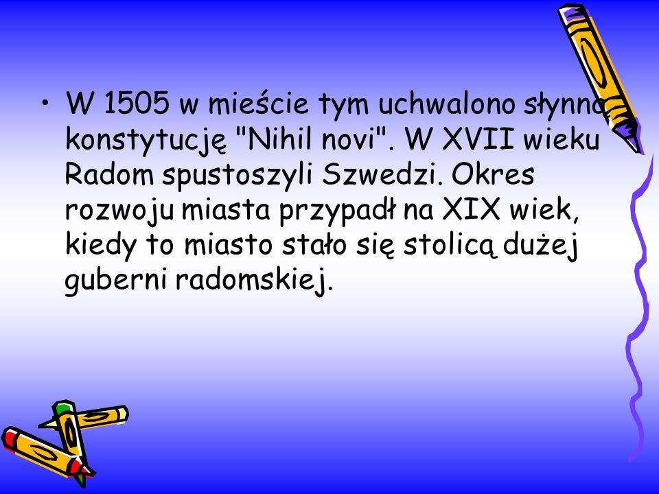 W 1505 w mieście tym uchwalono słynną konstytucję Nihil novi