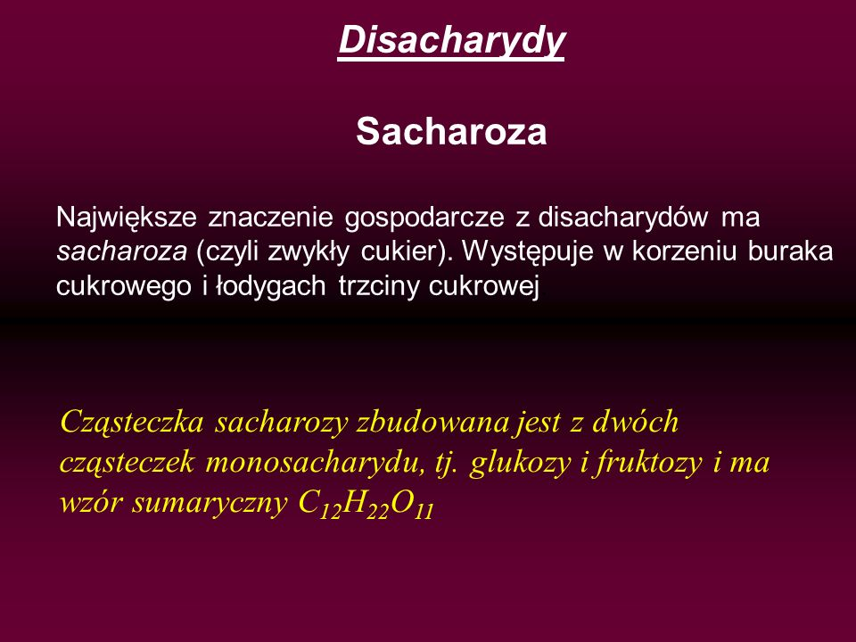 Disacharydy Sacharoza