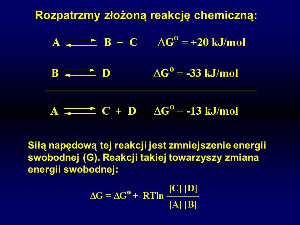 Rozpatrzmy złożoną reakcję chemiczną: