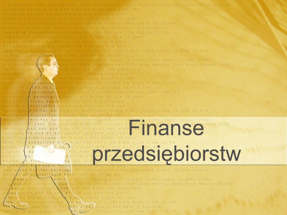 Finanse przedsiębiorstw
