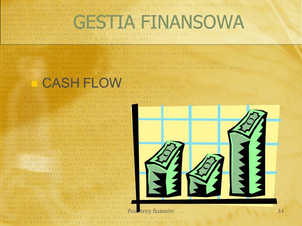 GESTIA FINANSOWA CASH FLOW Podstawy finansów
