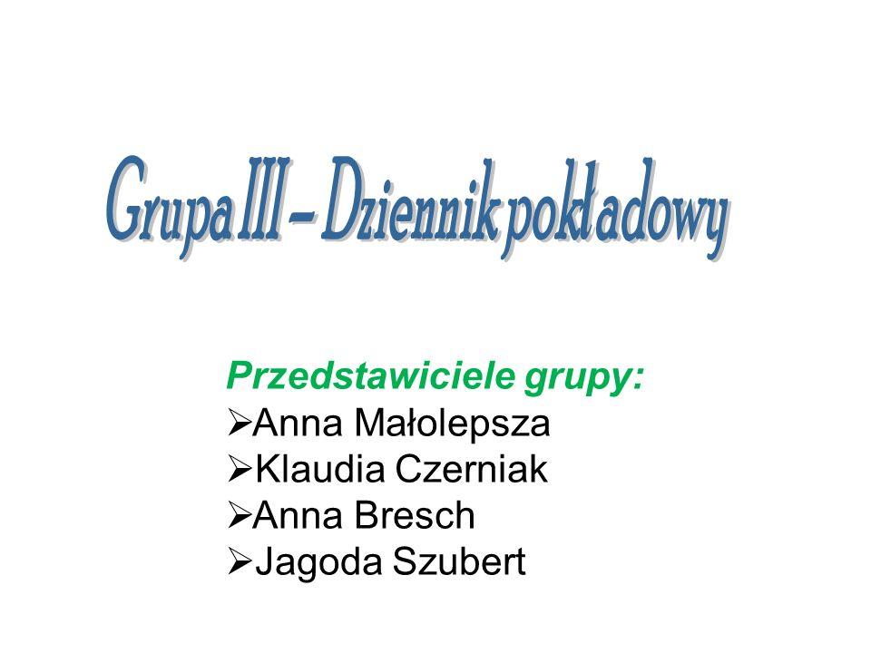 Grupa III – Dziennik pokładowy
