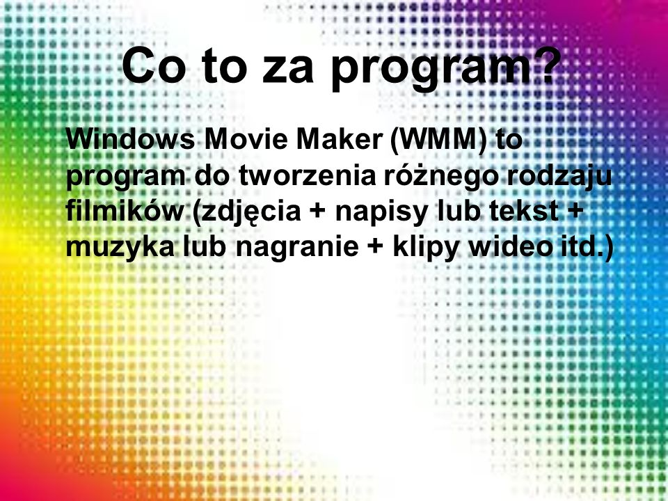 Co to za program