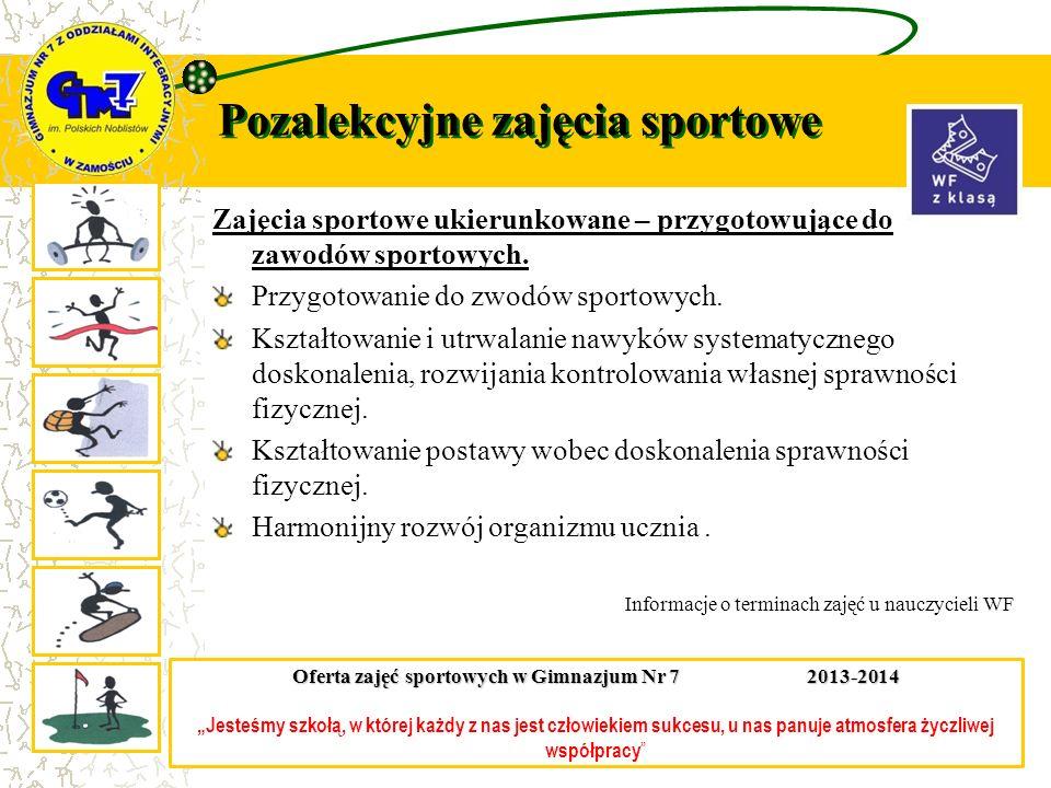 Pozalekcyjne zajęcia sportowe