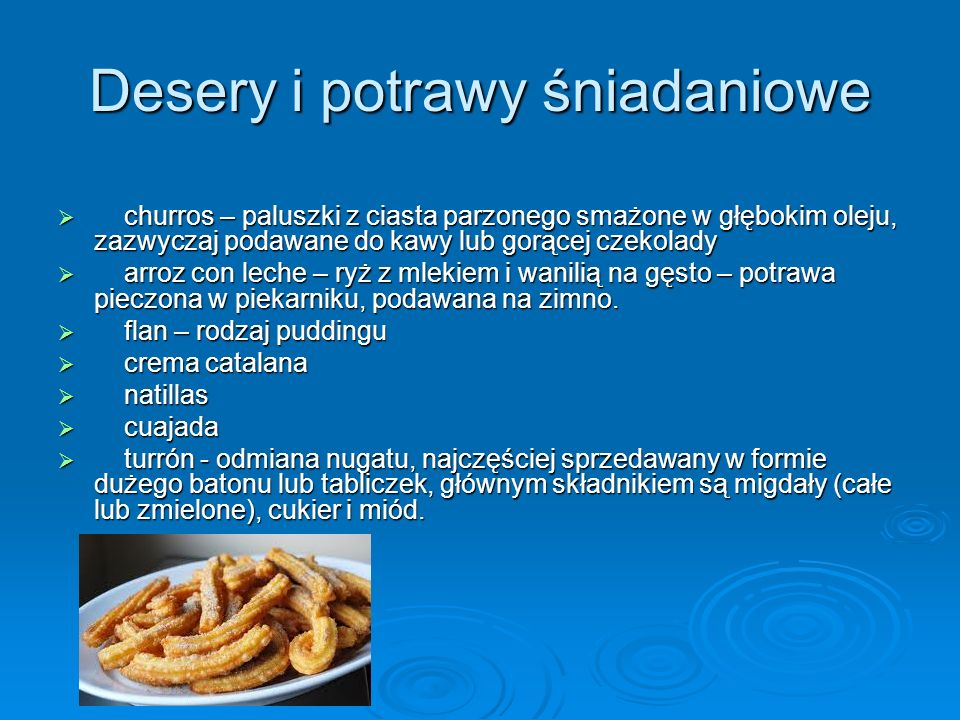 Desery i potrawy śniadaniowe