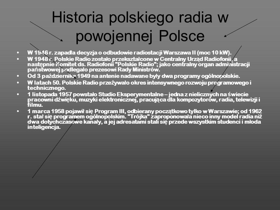 Historia polskiego radia w powojennej Polsce