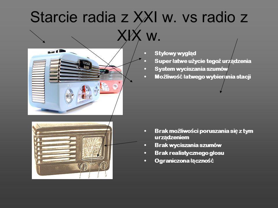 Starcie radia z XXI w. vs radio z XIX w.