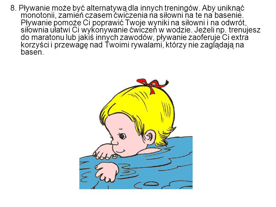 8. Pływanie może być alternatywą dla innych treningów