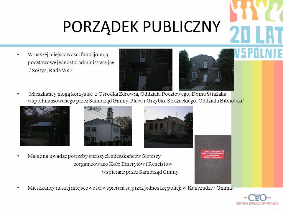 PORZĄDEK PUBLICZNY W naszej miejscowości funkcjonują
