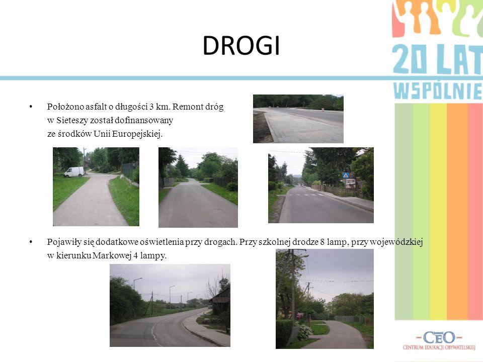 DROGI Położono asfalt o długości 3 km. Remont dróg