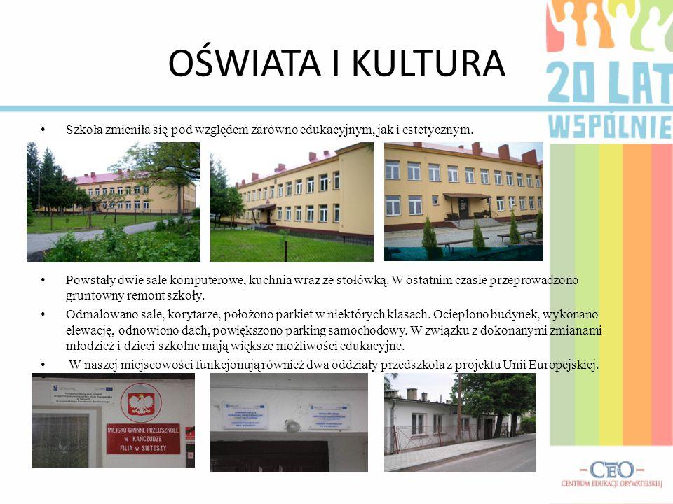 OŚWIATA I KULTURA Szkoła zmieniła się pod względem zarówno edukacyjnym, jak i estetycznym.