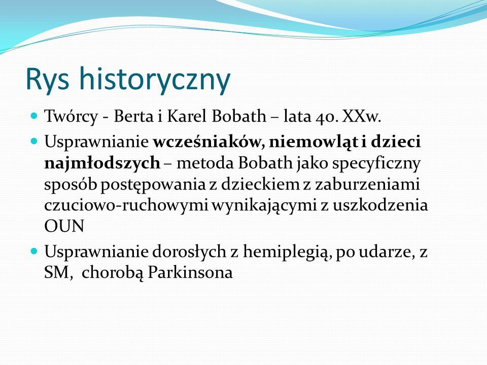 Rys historyczny Twórcy - Berta i Karel Bobath – lata 40. XXw.