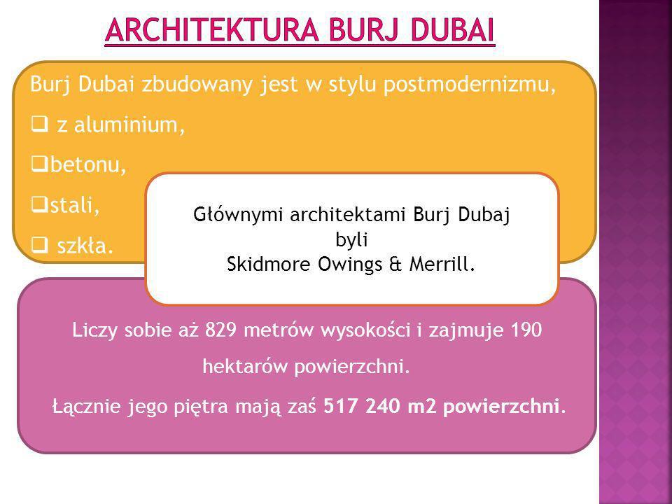 Architektura Burj Dubai