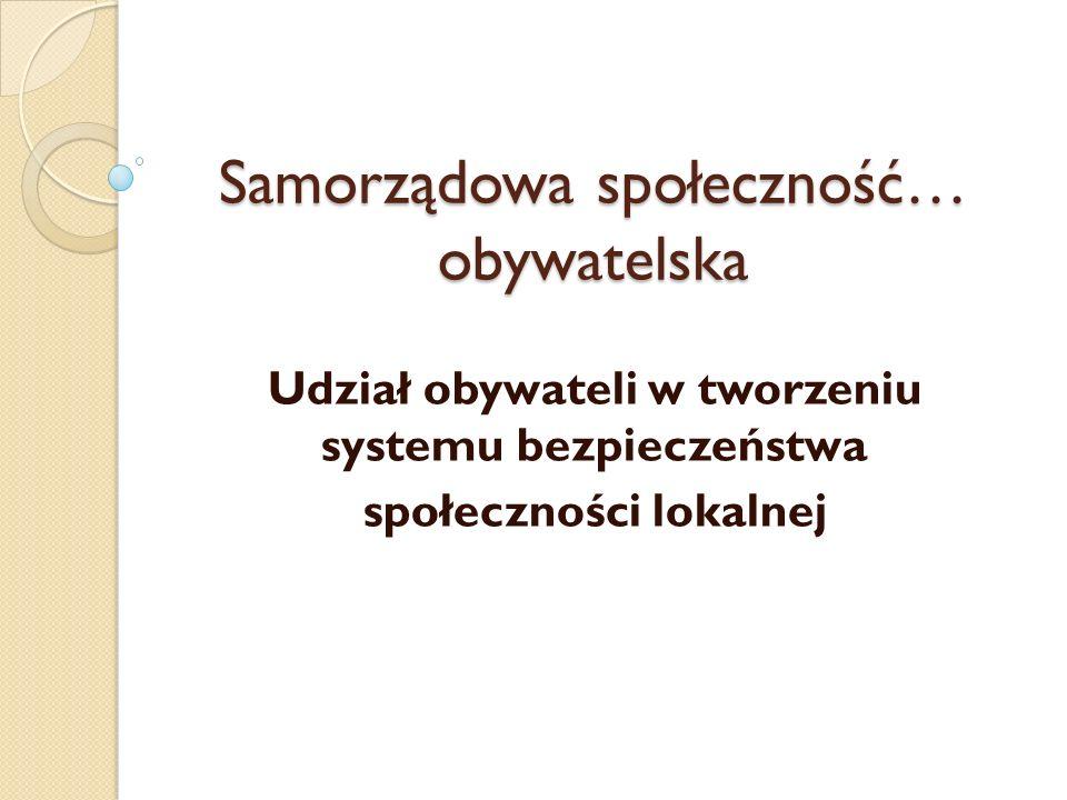 Samorządowa społeczność… obywatelska