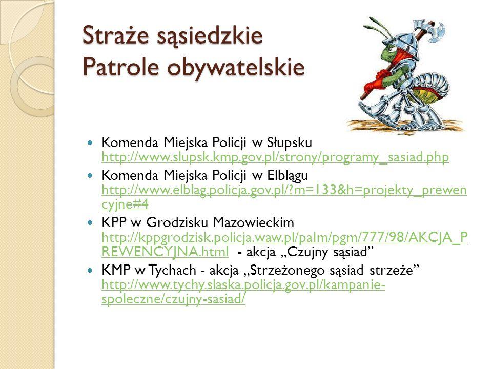 Straże sąsiedzkie Patrole obywatelskie