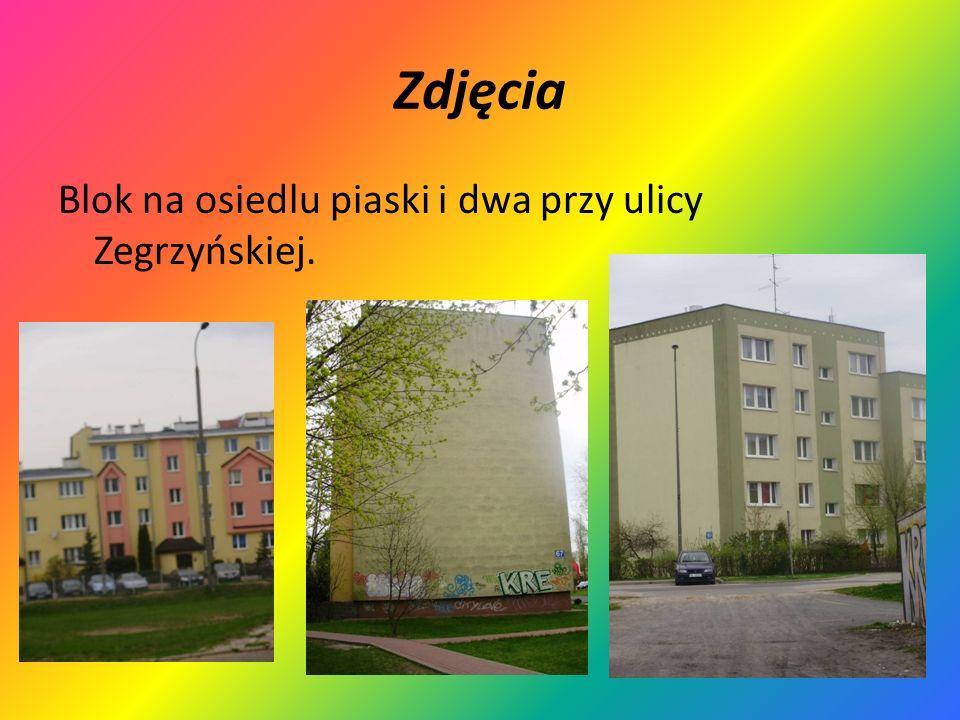 Zdjęcia Blok na osiedlu piaski i dwa przy ulicy Zegrzyńskiej.