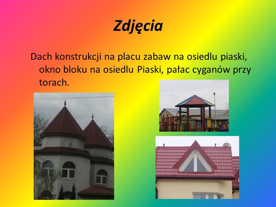 ZdjęciaDach konstrukcji na placu zabaw na osiedlu piaski, okno bloku na osiedlu Piaski, pałac cyganów przy torach.