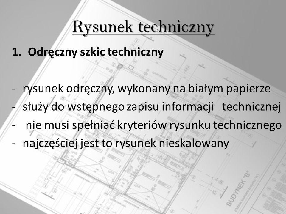 Rysunek techniczny Odręczny szkic techniczny